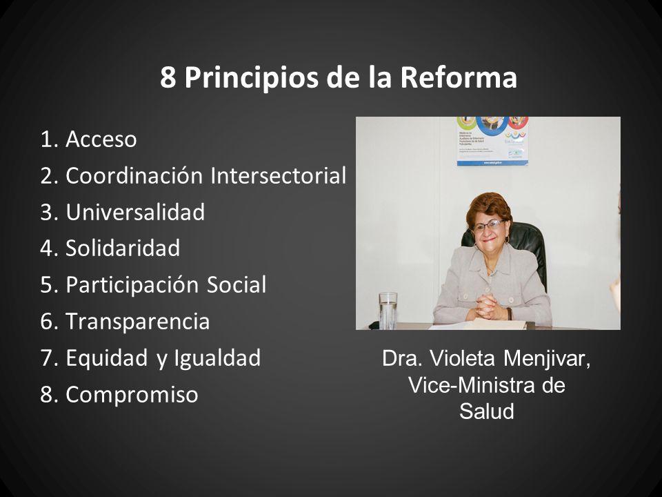 Acceso a la Salud Eliminación de costos por atención y medicamentos 2009: Presidente Funes anunció que se eliminaría todas las cuotas voluntarios en las hospitales y centros de salud del Ministerio de Salud