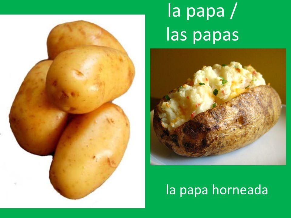 la papa / las papas la papa horneada