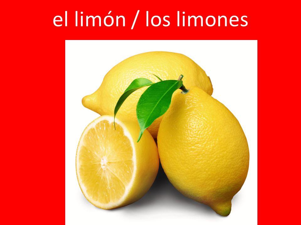 el limón / los limones