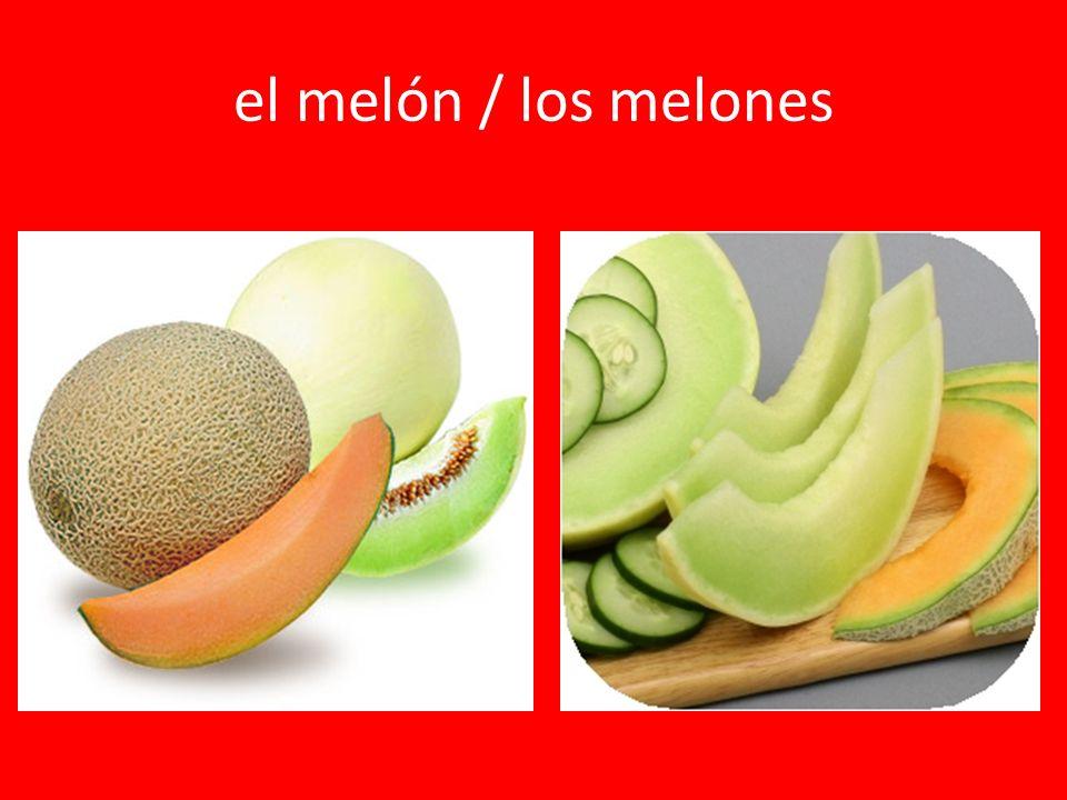 el melón / los melones