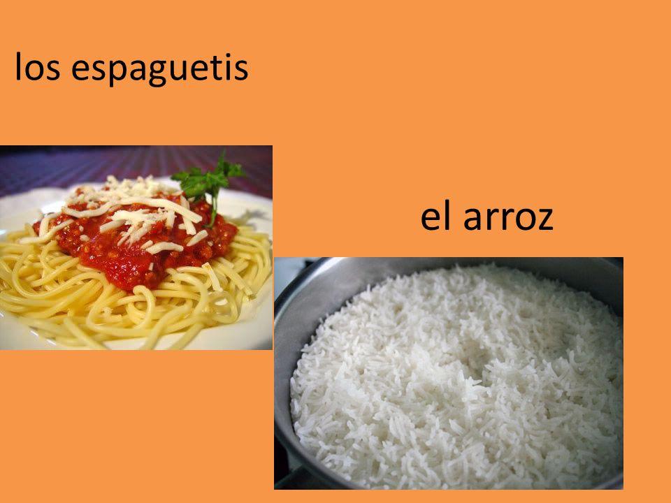 los espaguetis el arroz