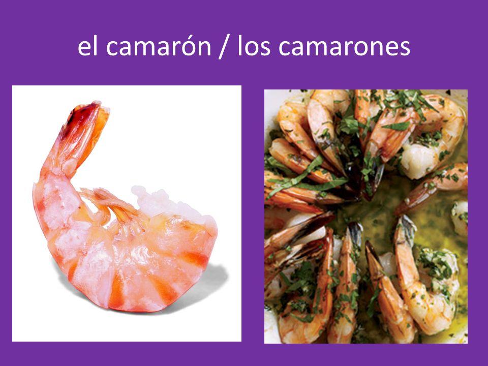 el camarón / los camarones