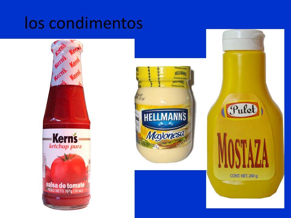 los condimentos