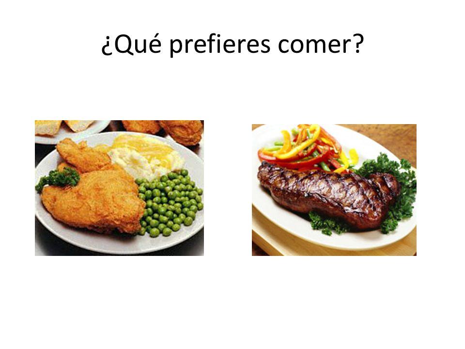 ¿Qué prefieres comer