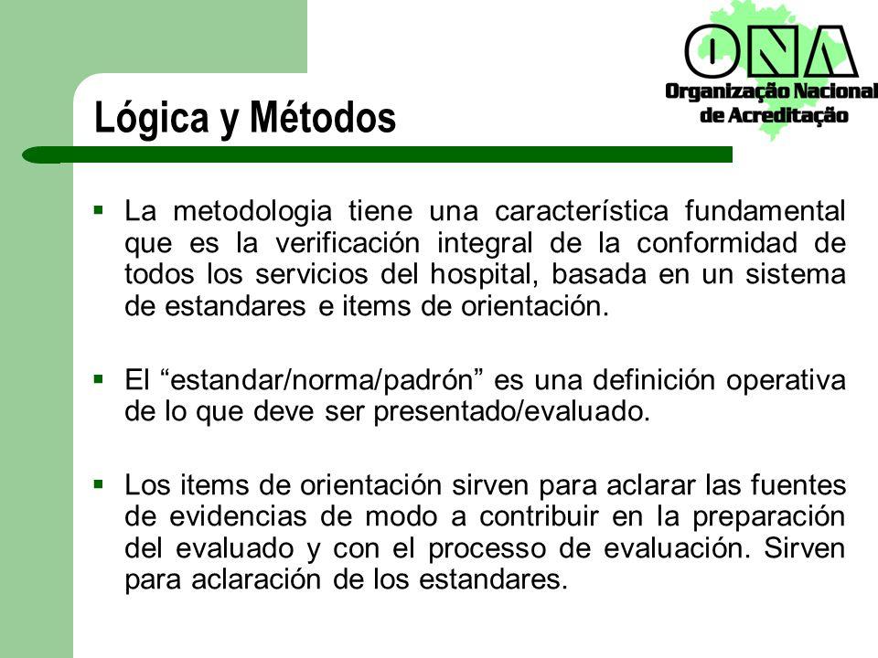 Lógica y Métodos La metodologia tiene una característica fundamental que es la verificación integral de la conformidad de todos los servicios del hosp