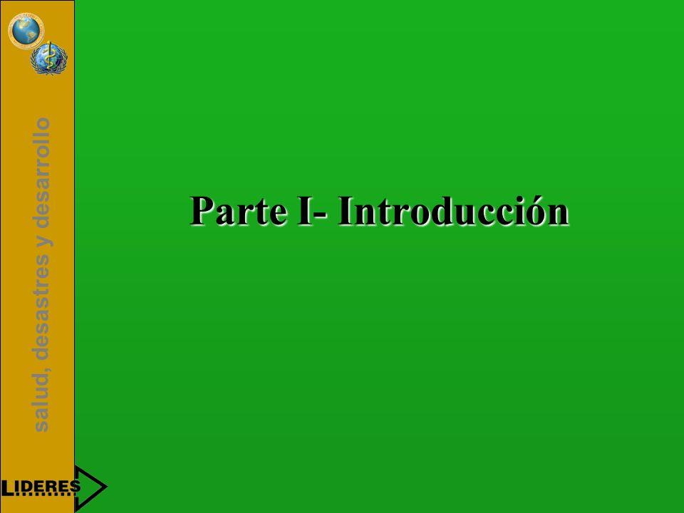 salud, desastres y desarrollo Parte I- Introducción