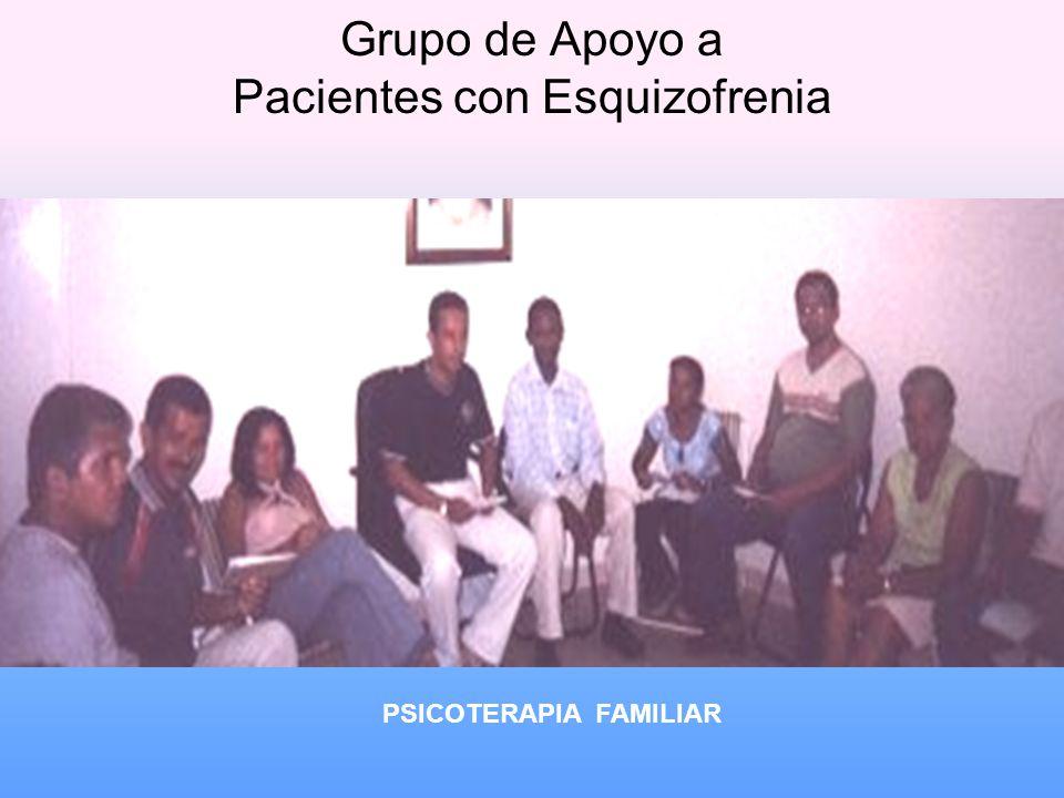 Grupo de Apoyo a Pacientes con Esquizofrenia PSICOTERAPIA FAMILIAR