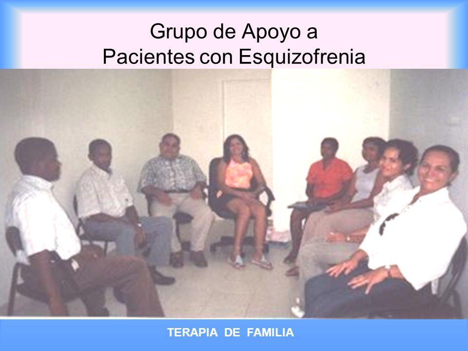 Grupo de Apoyo a Pacientes con Esquizofrenia TERAPIA DE FAMILIA