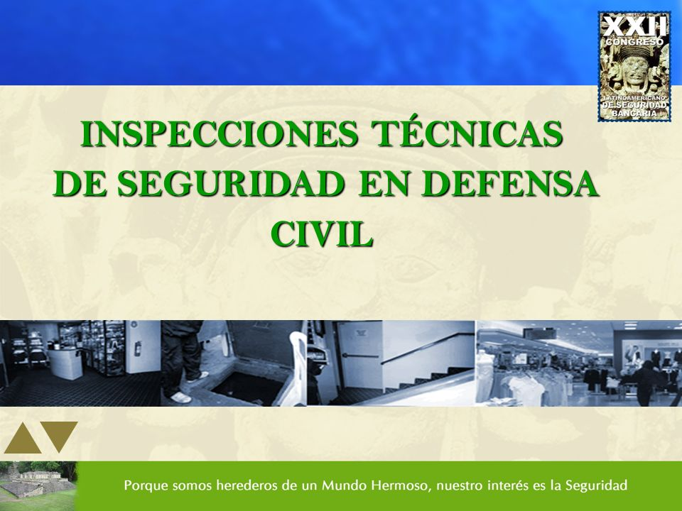 INSPECCIONES TÉCNICAS DE SEGURIDAD EN DEFENSA CIVIL DE SEGURIDAD EN DEFENSA CIVIL