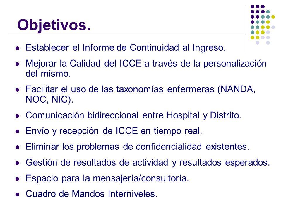 Objetivos. Establecer el Informe de Continuidad al Ingreso. Mejorar la Calidad del ICCE a través de la personalización del mismo. Facilitar el uso de