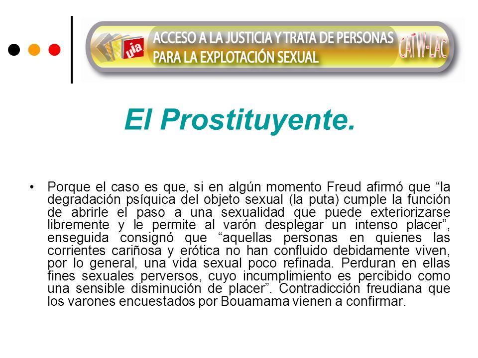El Prostituyente. Porque el caso es que, si en algún momento Freud afirmó que la degradación psíquica del objeto sexual (la puta) cumple la función de
