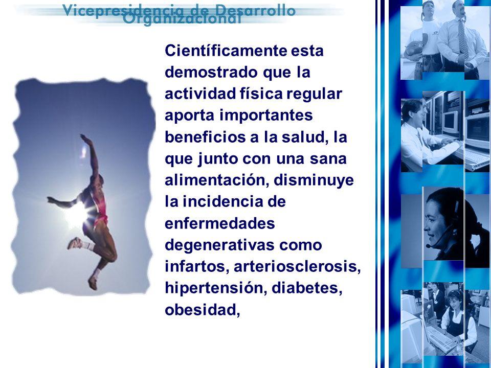 Científicamente esta demostrado que la actividad física regular aporta importantes beneficios a la salud, la que junto con una sana alimentación, disminuye la incidencia de enfermedades degenerativas como infartos, arteriosclerosis, hipertensión, diabetes, obesidad,