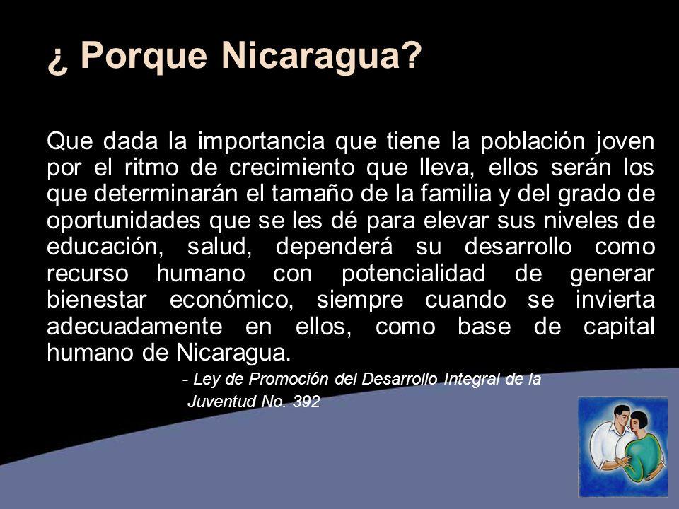 ¿ Porque Nicaragua.