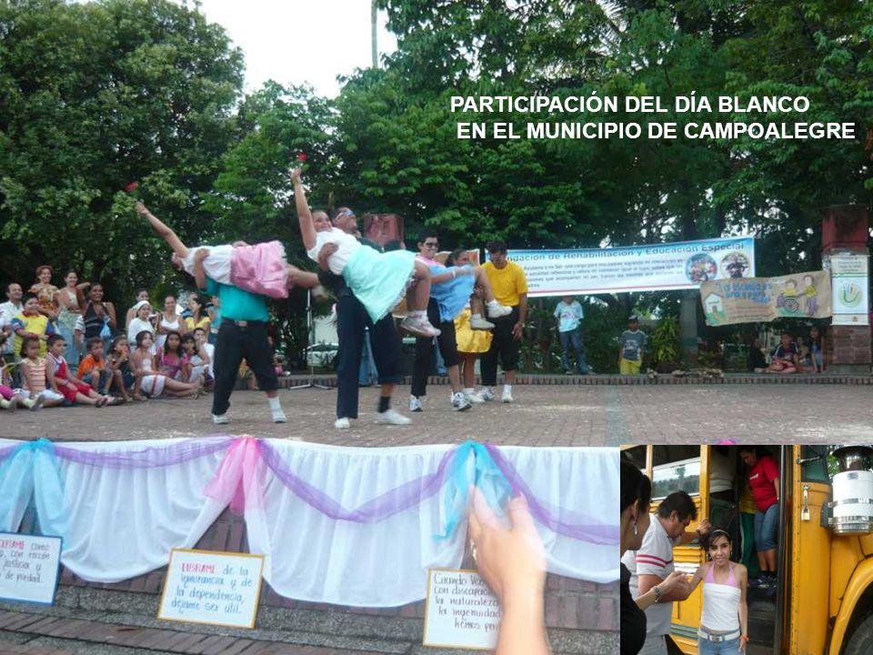 PARTICIPACIÓN DEL DÍA BLANCO EN EL MUNICIPIO DE CAMPOALEGRE