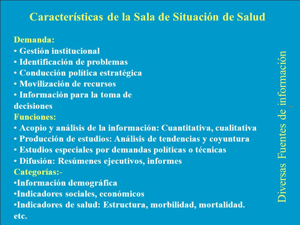 Demanda: Gestión institucional Identificación de problemas Conducción política estratégica Movilización de recursos Información para la toma de decisi