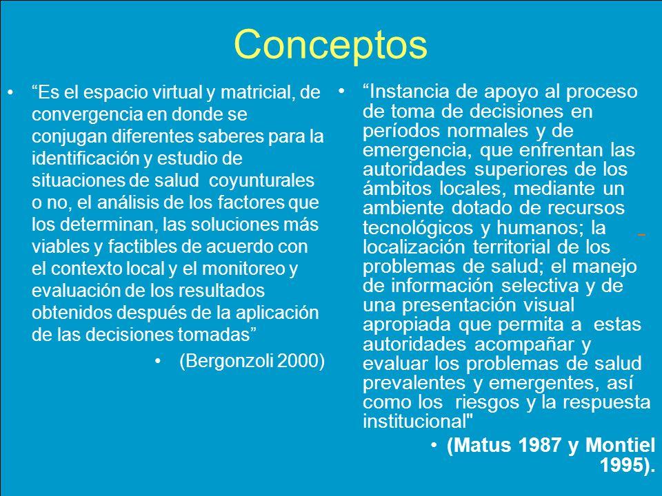 Es el espacio virtual y matricial, de convergencia en donde se conjugan diferentes saberes para la identificación y estudio de situaciones de salud co