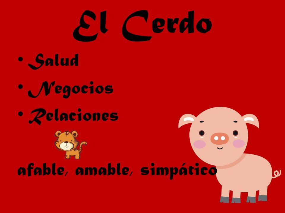 El Cerdo Salud Negocios Relaciones afable, amable, simpático