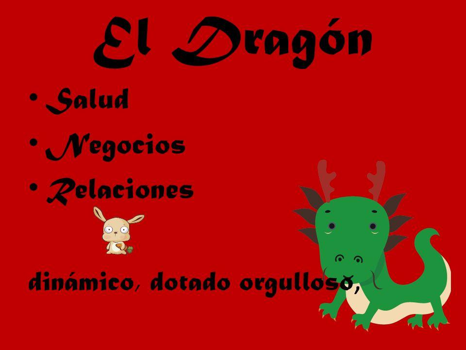 El Dragón Salud Negocios Relaciones dinámico, dotado orgulloso,