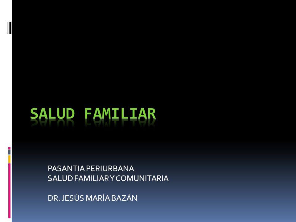 PASANTIA PERIURBANA SALUD FAMILIAR Y COMUNITARIA DR. JESÚS MARÍA BAZÁN