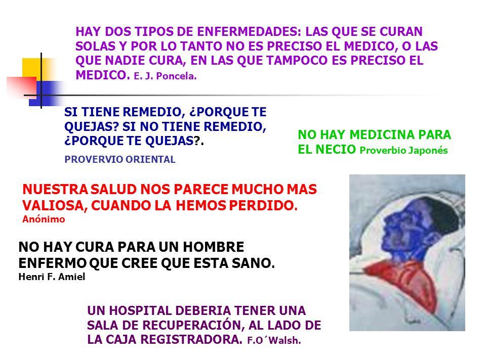 LOS MEDICOS SON HOMBRES QUE RECETAN MEDICINAS DE LAS QUE SABEN POCO, PARA CURAR ENFERMEDADES DE LAS QUE SABEN MENOS, EN SERES HUMANOS DE LOS QUE NO SABEN NADA.