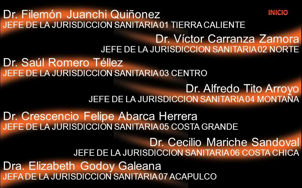 Dr.Alfredo Tito Arroyo JEFE DE LA JURISDICCION SANITARIA 04 MONTAÑA Dr.