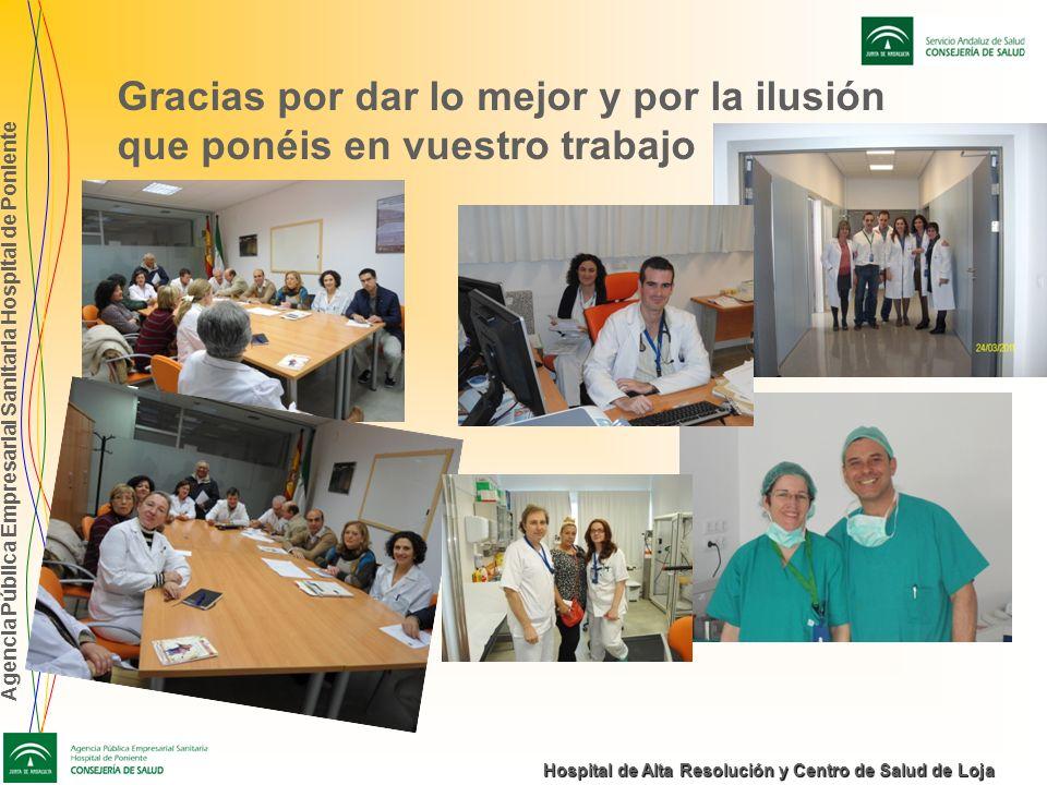Agencia Pública Empresarial Sanitaria Hospital de Poniente Hospital de Alta Resolución y Centro de Salud de Loja Gracias por dar lo mejor y por la ilu