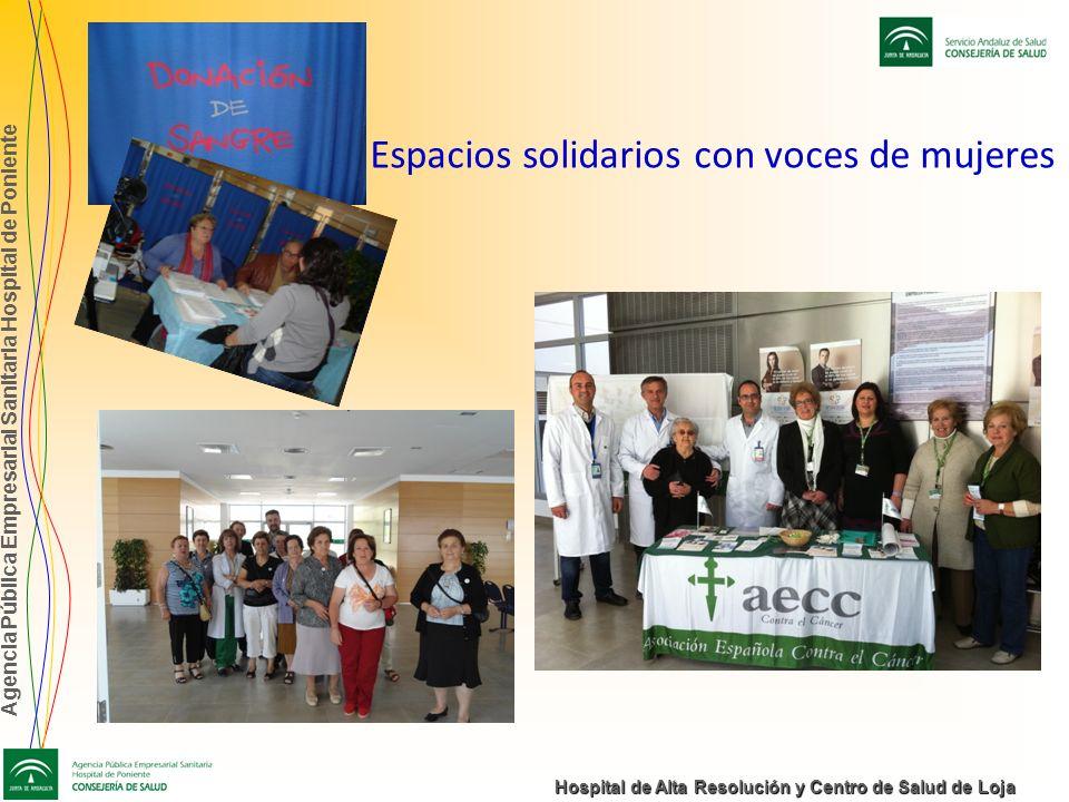 Agencia Pública Empresarial Sanitaria Hospital de Poniente Hospital de Alta Resolución y Centro de Salud de Loja Espacios solidarios con voces de muje