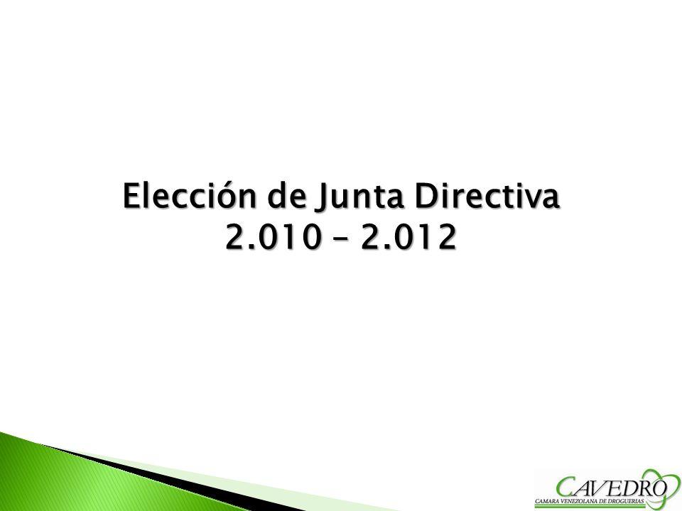 Elección de Junta Directiva 2.010 – 2.012