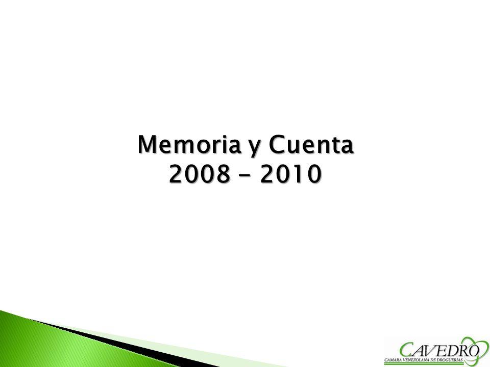Memoria y Cuenta 2008 - 2010