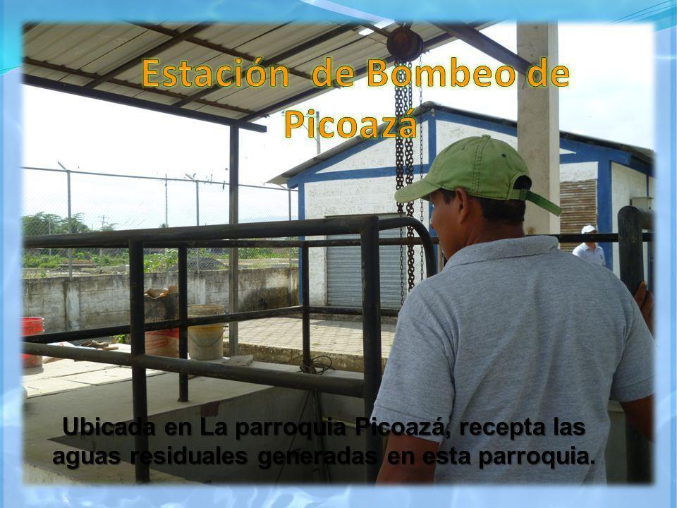 Ubicada en La parroquia Picoazá, recepta las aguas residuales generadas en esta parroquia Ubicada en La parroquia Picoazá, recepta las aguas residuale
