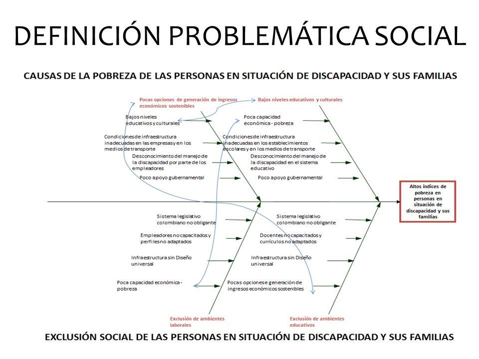 DEFINICIÓN PROBLEMÁTICA SOCIAL