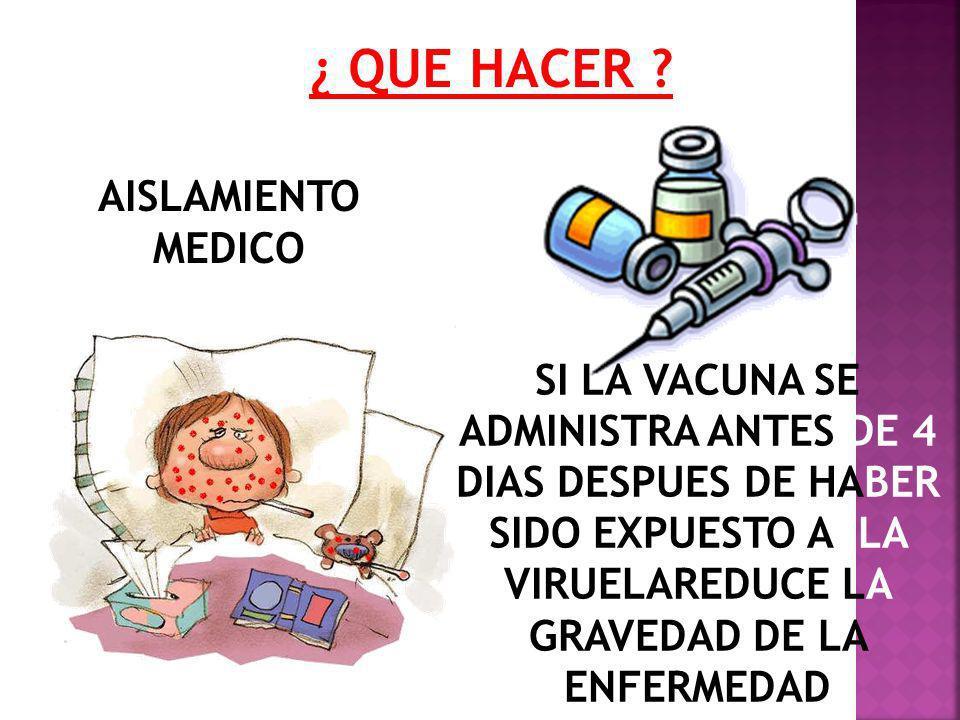 AISLAMIENTO MEDICO ¿ QUE HACER .
