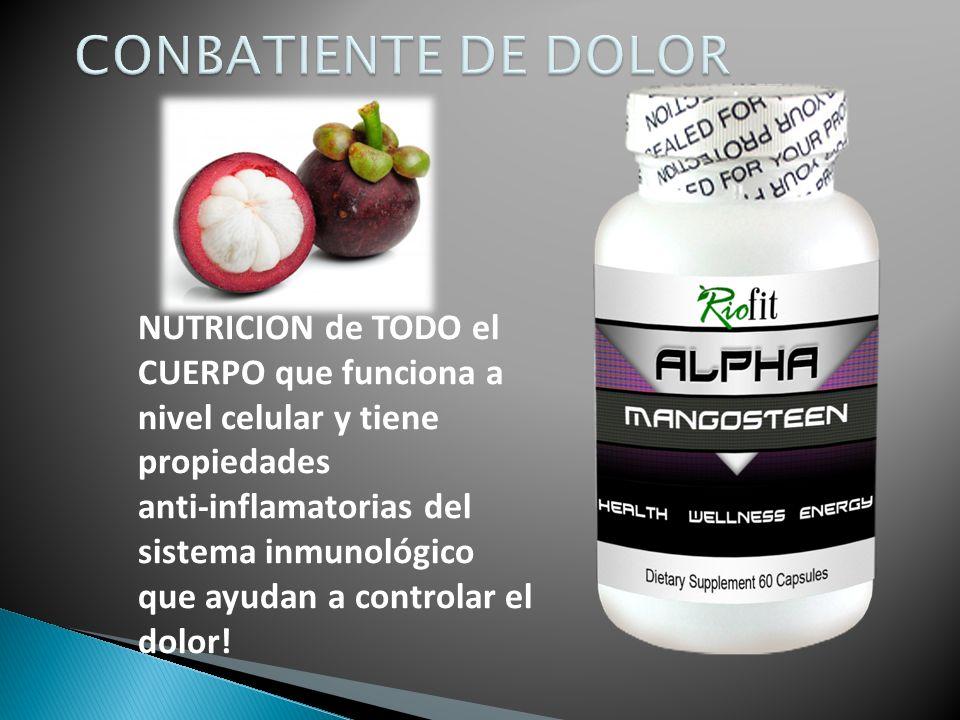 NUTRICION de TODO el CUERPO que funciona a nivel celular y tiene propiedades anti-inflamatorias del sistema inmunológico que ayudan a controlar el dolor!