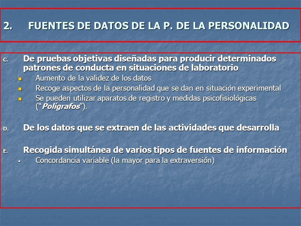 C. De pruebas objetivas diseñadas para producir determinados patrones de conducta en situaciones de laboratorio Aumento de la validez de los datos Aum