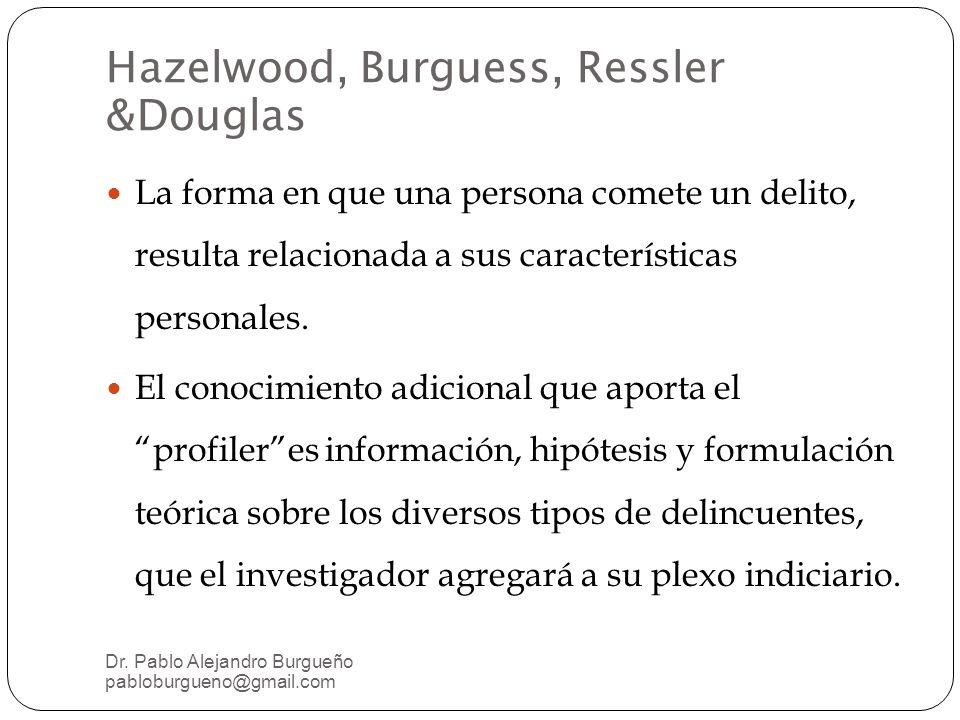 La forma en que una persona comete un delito, resulta relacionada a sus características personales.