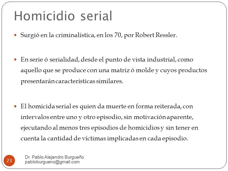 Homicidio serial Dr.