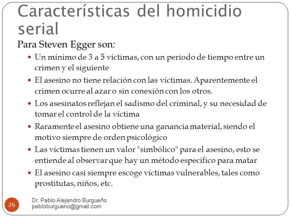 Características del homicidio serial Dr.