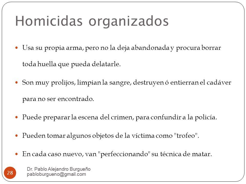 Homicidas organizados Dr.