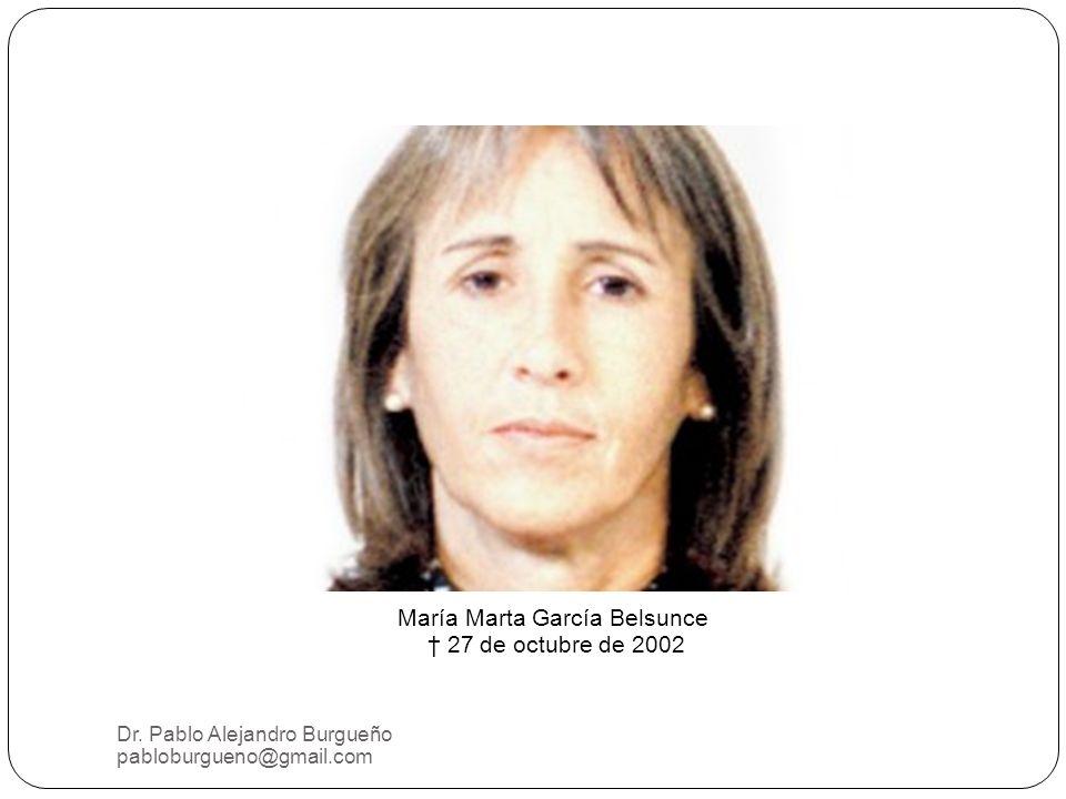María Marta García Belsunce 27 de octubre de 2002