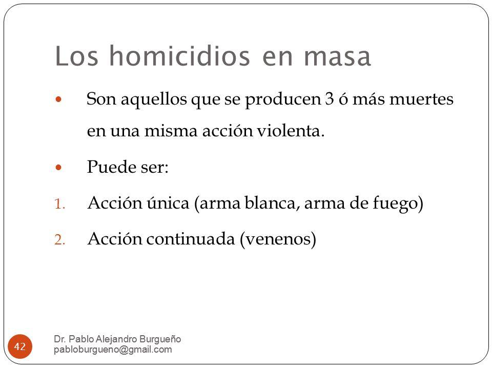 Los homicidios en masa Dr.