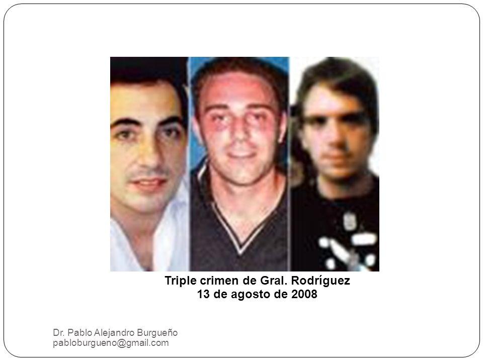 Dr.Pablo Alejandro Burgueño pabloburgueno@gmail.com Triple crimen de Gral.