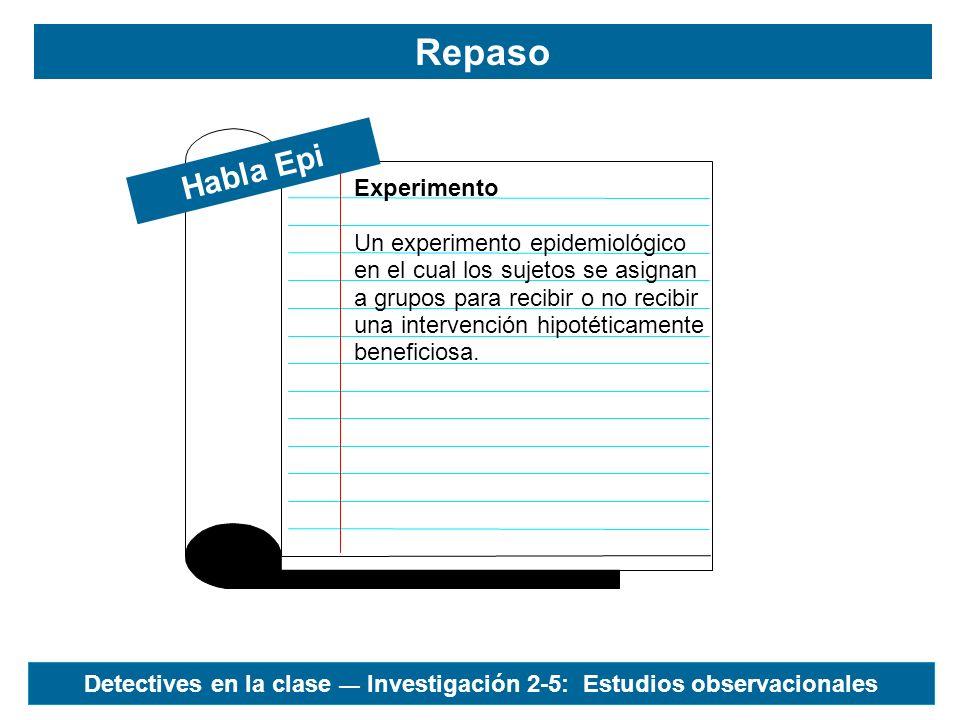 Habla Epi IMRYD Repaso Formato normalmente seguido cuando se publican estudios epidemiológicos en revistas médicas.