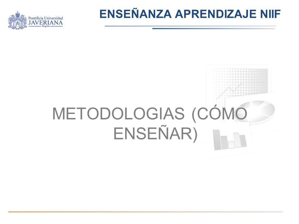 ENSEÑANZA APRENDIZAJE NIIF METODOLOGIAS (CÓMO ENSEÑAR)