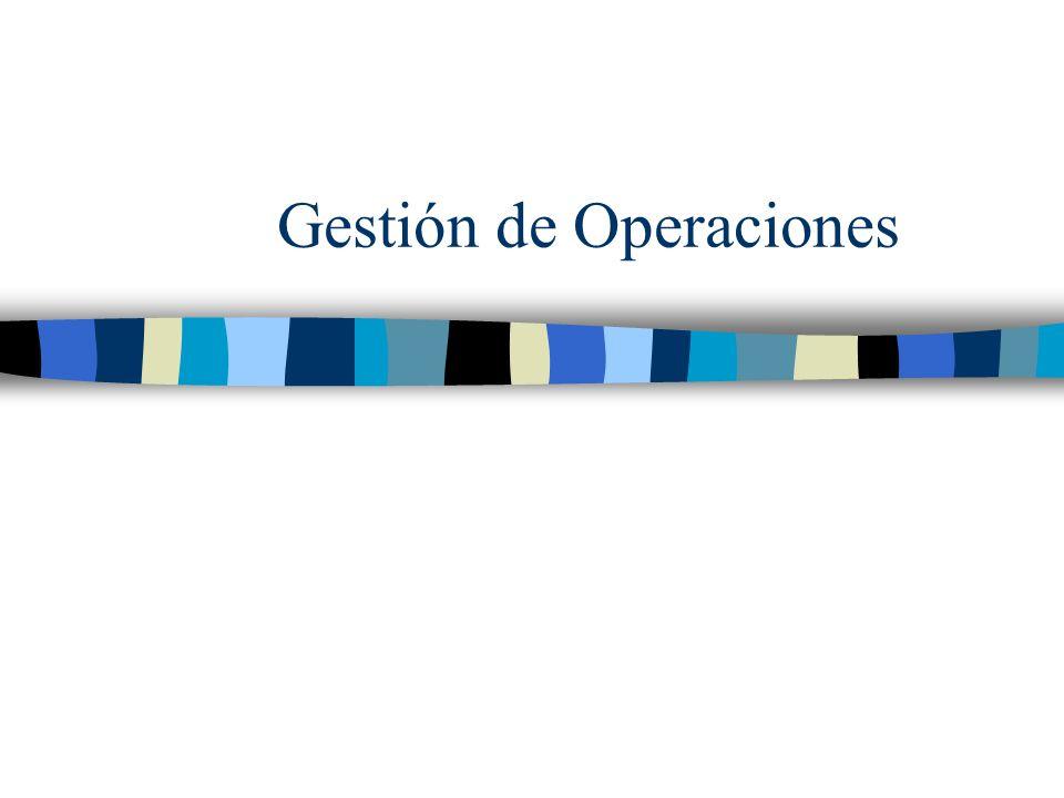 CLASE 1, Parte 1: Función de operaciones y estrategia de operaciones