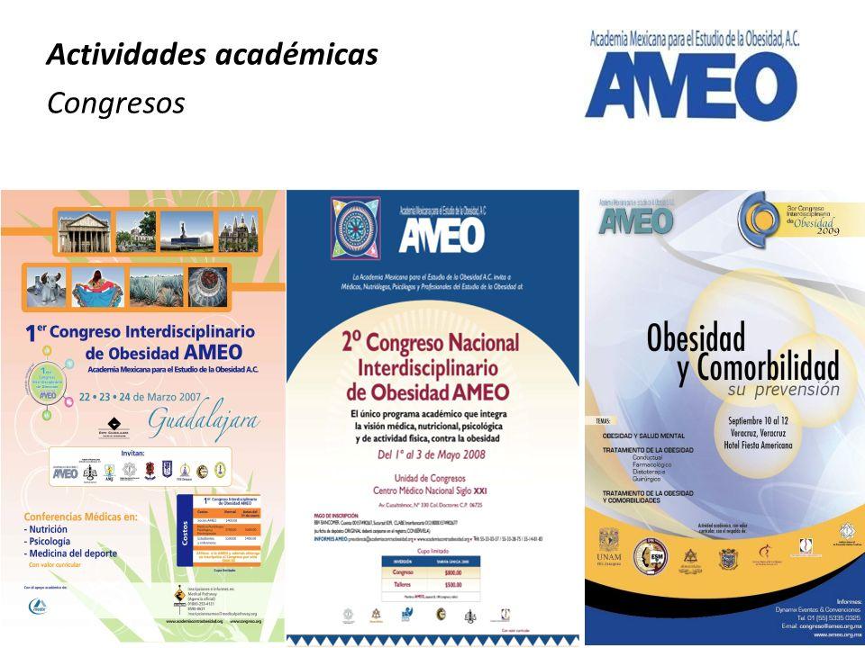 Actividades académicas Congresos
