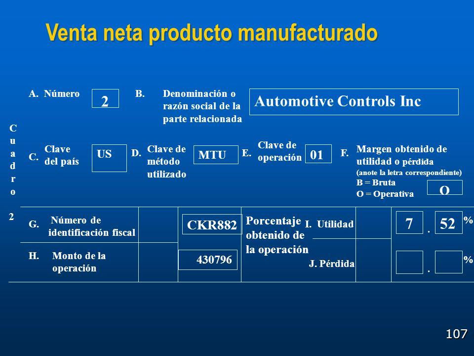 107 Cuadro2Cuadro2 A. NúmeroDenominación o razón social de la parte relacionada Clave del país Clave de método utilizado Clave de operación Margen obt