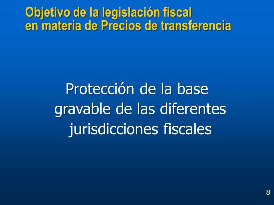 8 Objetivo de la legislación fiscal en materia de Precios de transferencia Objetivo de la legislación fiscal en materia de Precios de transferencia Pr