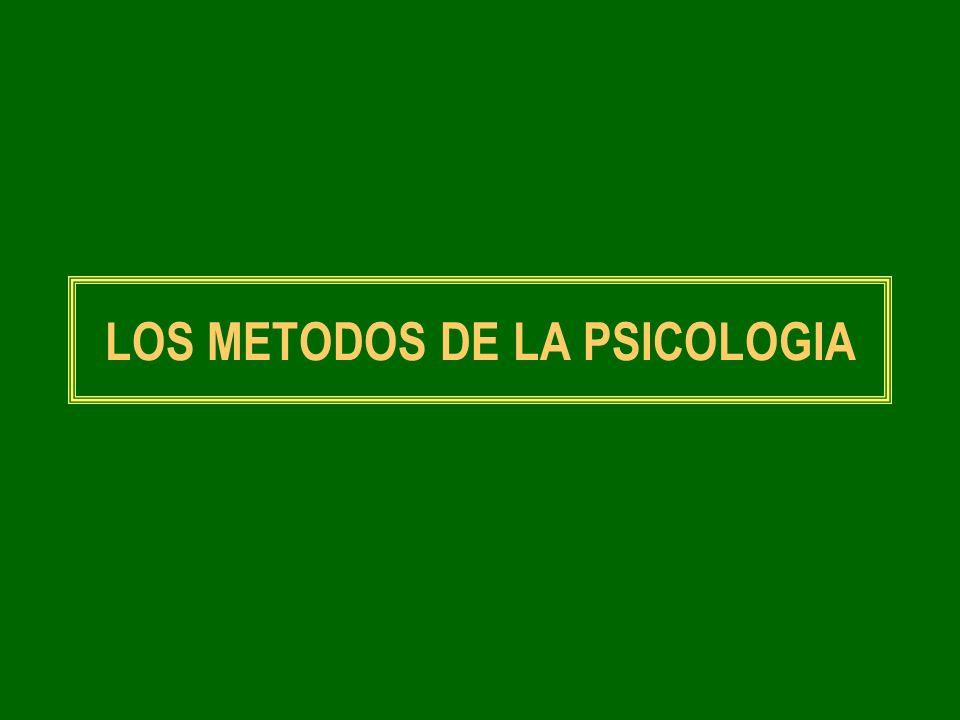 LOS METODOS DE LA PSICOLOGIA