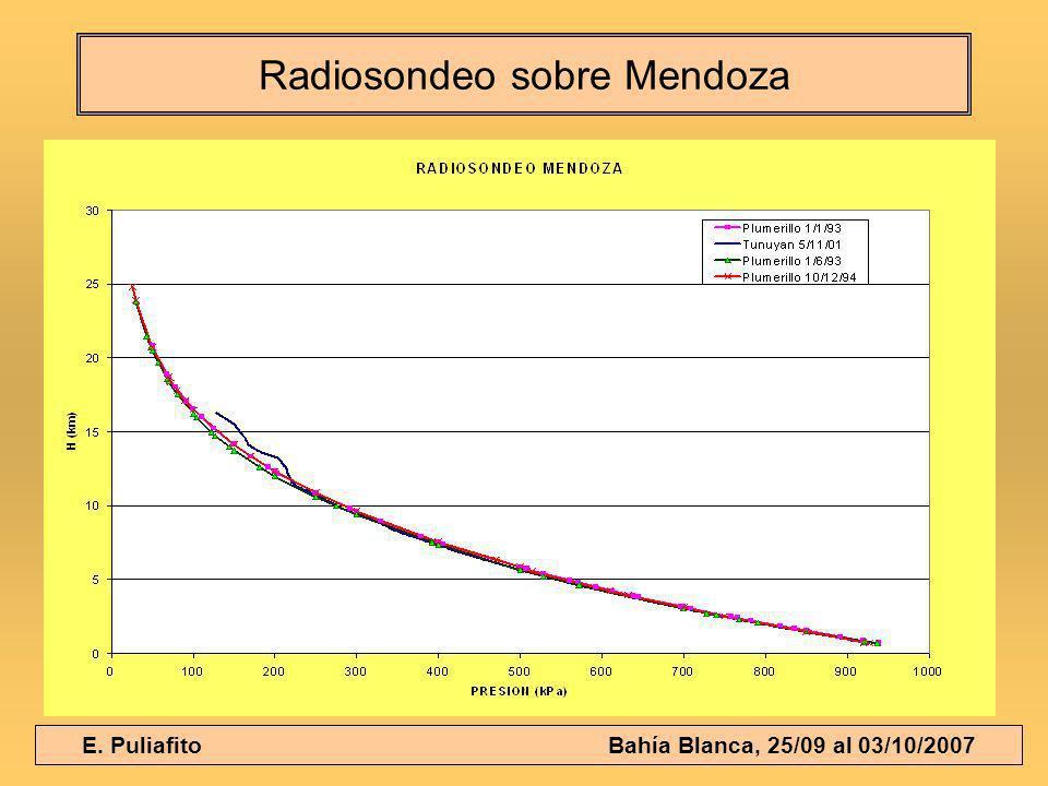 E. Puliafito Bahía Blanca, 25/09 al 03/10/2007 Radiosondeo sobre Mendoza