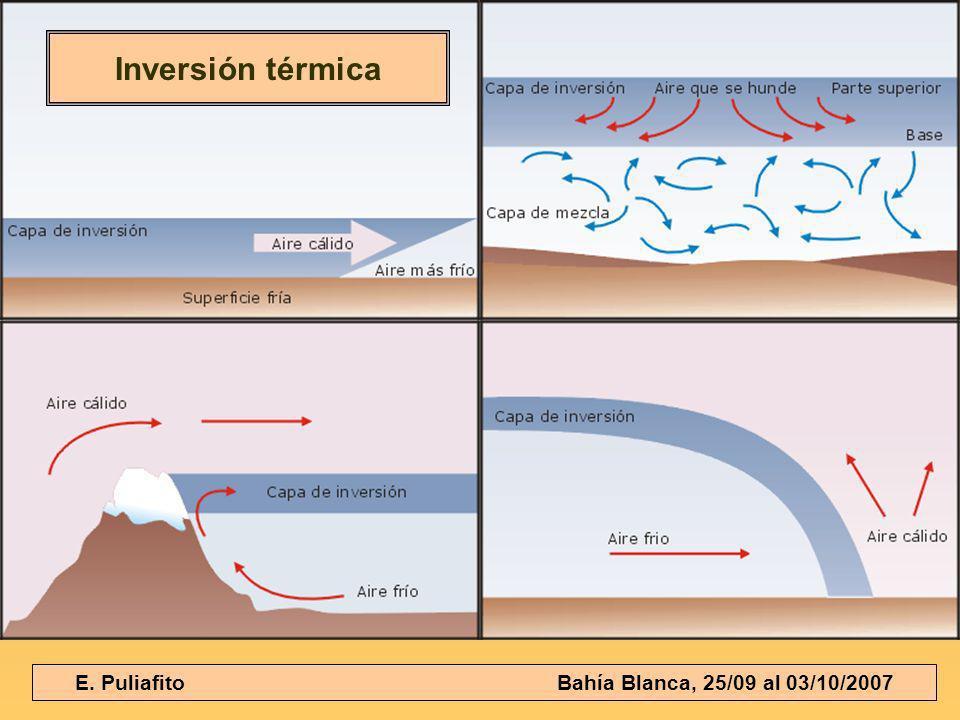 E. Puliafito Bahía Blanca, 25/09 al 03/10/2007 Inversión térmica